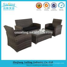 Meuble de jardin en osier 3 + 2 + 1 Salon Suite Canapé Couch Deck Patio Setting