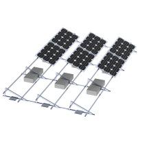 Sistema de montaje solar de techo plano de aluminio de calidad duradera 150KW