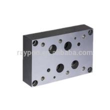 Vanne d'électrovanne hydraulique standard de 16 mm vanne de blocage plaque de base installée