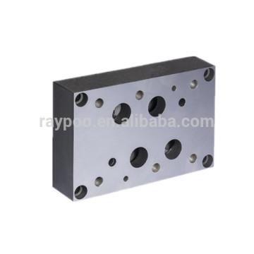 Válvulas solenoide hidráulicas estándar de 16 mm válvula de bloqueo placa base instalada