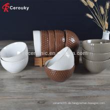 Gute Design-Decal Runde Keramik tiefe Salat Schüssel