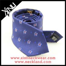 Cravate personnalisée en soie brodée