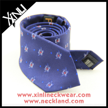 Embroidered Custom Silk Tie