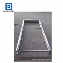 Cadre de porte escamotable, cadre de porte en acier galvanisé