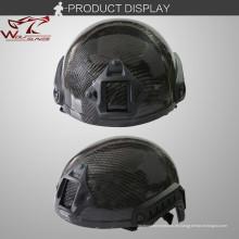 Deportes al aire libre de fibra de carbono CS táctico combate militar Airsoft protector casco