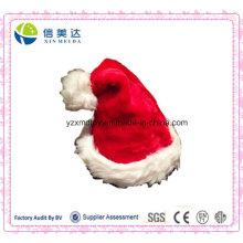 Alta calidad hecha a mano de felpa suave de Navidad tradicional Santa Cap