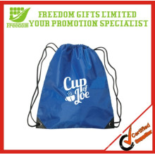 Promotional Customized Logo Polyester Drawstring Backpack