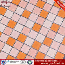 china wholesale swimming pool design tile mixed glass mosaic tile