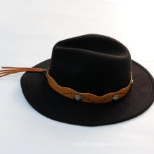 Custom winter wide brim fedora wool felt hat