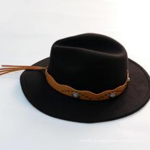 Chapéu de feltro de lã de aba larga de inverno personalizado