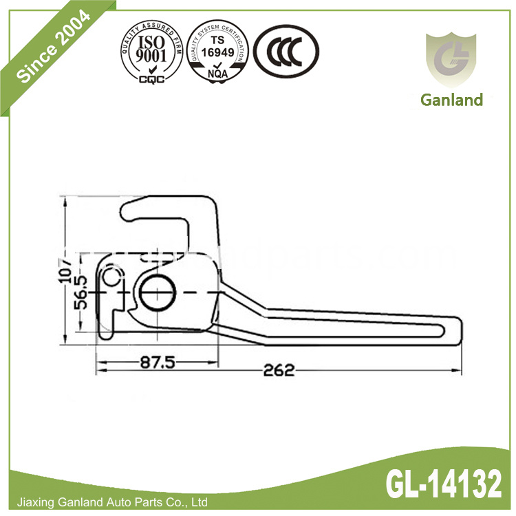 heavy duty handle latch gl-14132