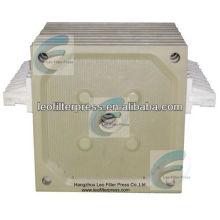Filtro Leo prensa placa de filtro para la filtración de bebidas