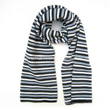 Acrylic Double Layer Mens Woven Jacquard Fans Scarf