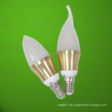 Druckguss Aluminium 4W Golden Bentend LED Birne Licht