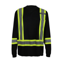 2016 Custome Design Crew Neck Long Sleeve High Visibility Shirt for Men, Workers