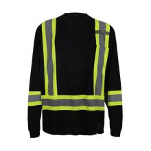2016 Custome Design Camisa de pescoço com pescoço pescoço de alta visibilidade para homens, trabalhadores