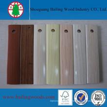 Высокое качество твердые и деревянные зерна ПВХ Кромкооблицовочный