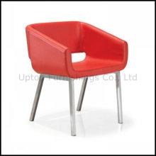 Noble silla de hotel de sala de espera de cuero rojo (SP-HC095)