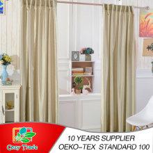 Plain Faux Silk Curtains, 100% Polyester Slub Silk Curtains Full Line