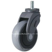 Roulette TPR médicale conductrice de roue (type tige filetée)