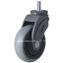 Caster Wheel Conductive Medical TPR Caster (Threaded stem type)