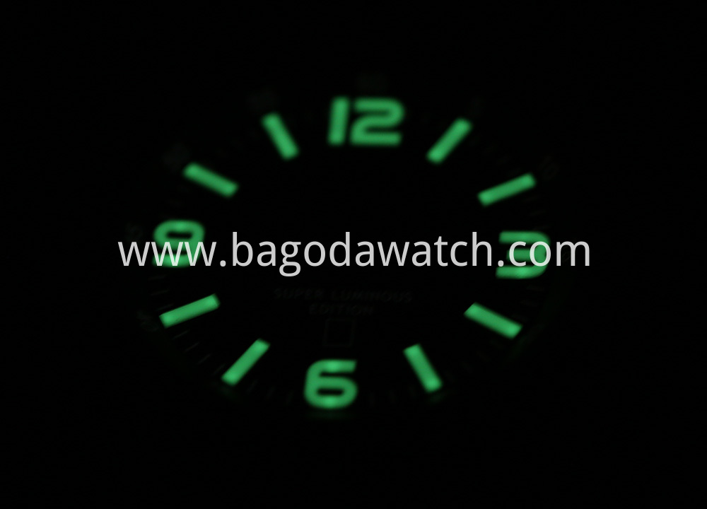 Green Lume Watch Dial