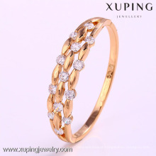 50837 Xuping 18k gold plated color jewelry women bangles