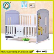 Boa qualidade design novo bebê cama de design simples cama