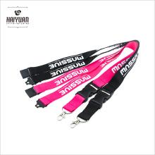 10PCS / paquete de colores de colores tarjeta de identificación correa de cuello cordón con cierre de plástico negro