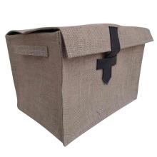 Storage Baskets Jute Laundry Hamper Bag