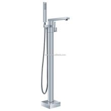 KFT-07 al por mayor con manguera de ducha de una sola palanca accesorio de la sala de ducha de cobre sólido marca de agua piso bañera de pie mezclador