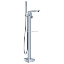 KFT-07 wholesale with shower hose single lever shower room accessory solid copper watermark floor standing tub mixer