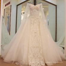 LS45880 2017 mangas compridas taobao organza alibaba vestidos de casamento modestos catedral trem casamento vestidos de baile