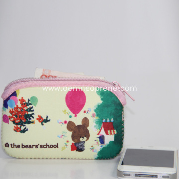 Neoprene Cartoon Pattern Money Bags With Zipper