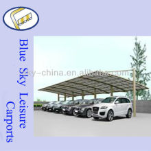 High waterproof aluminum bus shelter with polyester roof