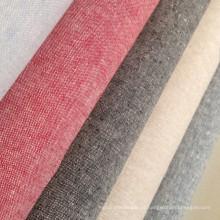 Tecido de linho de algodão natural macio mistura
