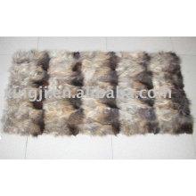 Placa de perna dianteira de pele de cachorro guaxinim