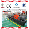 KTE-75 plastic recycling twin screw pelletizing extruder