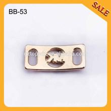 BB53 Art- und Weiseschuh-Dekorationen Großhandelsgewohnheit Metall-Schnürsenkel-Charme