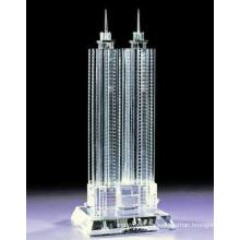 Marcos de la ciudad de la moda Molde del edificio del vidrio cristalino para el ornamento del sitio de la demostración