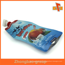 OEM resealable plastic liquid soap bag 200ml