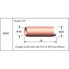 Bocais de consumíveis Mig 4591 Bocal de cobre Welding Bernard