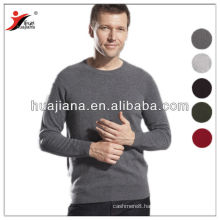 100% cashmere men's crewneck flat knitting sweater