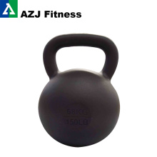 68kg Cast Iron Powered Coated Kettlebell