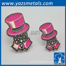 custom zinc alloy/copper name card badges, with design logo