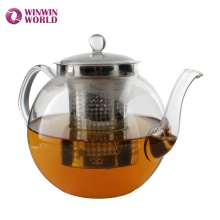 Wholesale Custom Pyrex Glass Tea pot With Strainer