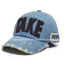 6 Panel Washed Denim Baseball Cap