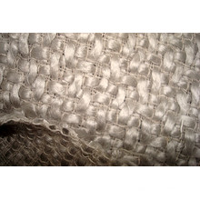 Tissu de mode en laine en laine blanche