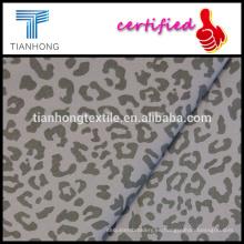seling caliente leopardo patrón sexy impresión 97 algodón 3 lycra sarga tejer tela estirada para pantalones slim