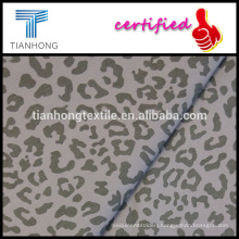 hot seling leopard pattern sexy printing 97 cotton 3 spandex twill weave stretched fabric for slim pants